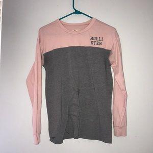 Pink and Grey Hollister California Longsleeve